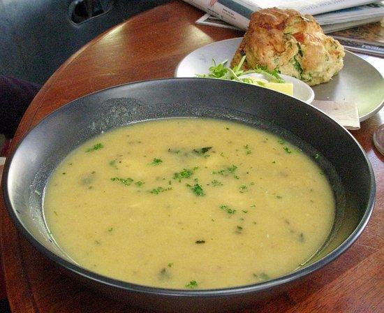 Cafe Boranup: Fish Soup / Savoury Scone