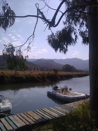 Camping La Pinède : panne d'amarrage appartenant au camping