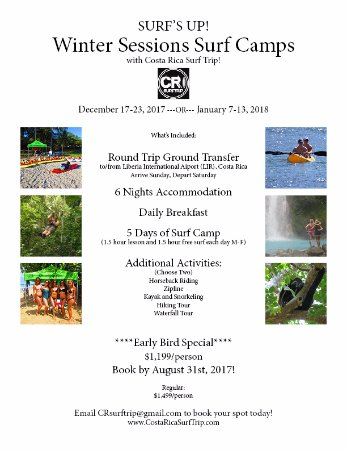 Winter Surf Camps in Costa Rica: Early Bird Special!! - Picture of