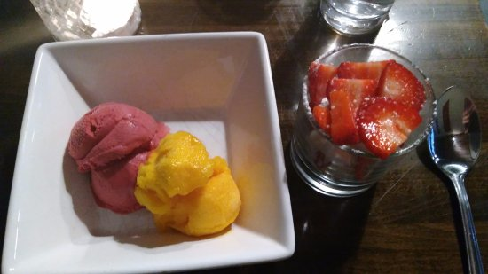 The Nook: Sorbet, Strawberries and meringue