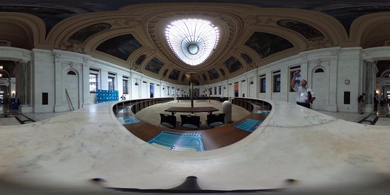 United States Custom House: Hall from Another Point of View (360 Photo)