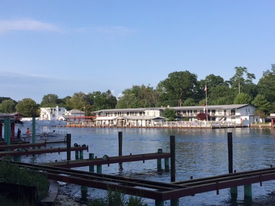 Docks on the water at the bottom of Mount Baldhead Park.