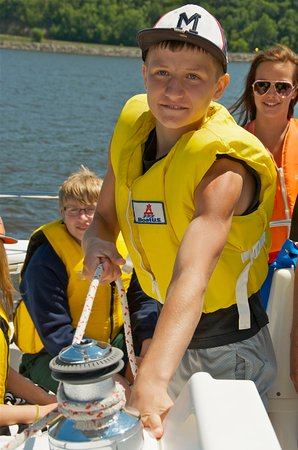 Pepin, WI: We guarantee that your kids will learn to sail our 31-foot yacht in first 1-2 hours
