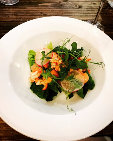 Cark, UK: crayfish salad