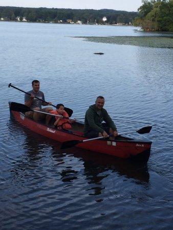Kayaking and campfire fun at Edinboro Lake Resort!