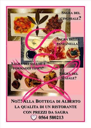 Montorgiali, Italy: Qualità di un ristorante, prezzi da sagra