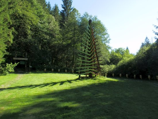 Forest with sculptures, Cierny Balog, Slovakia 29/7/2017