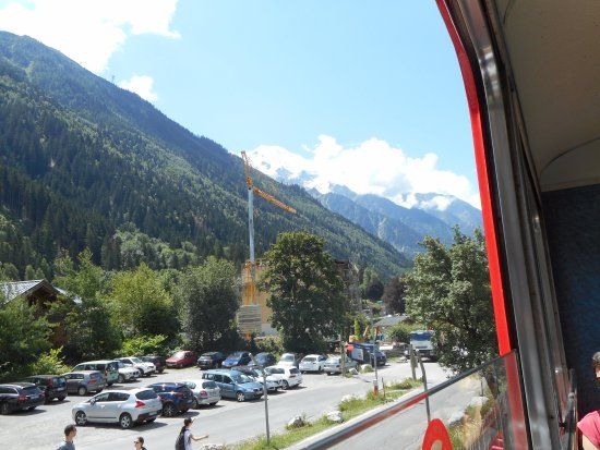 Hotel du Bois: View from the cable car in Mont Blanc, Chamonix