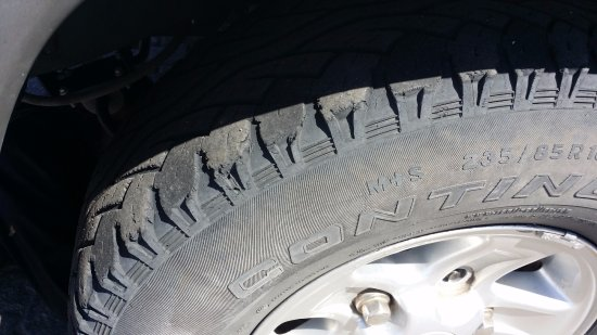 Alberton, South Africa: M+S Tire inadequate for the desert