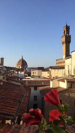 Hotel Degli Orafi: View from roof top bar.
