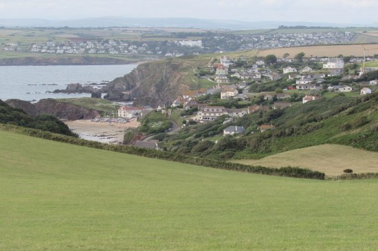 Malborough, UK: View of Hope Cove from Bolberry Down Coastal Path