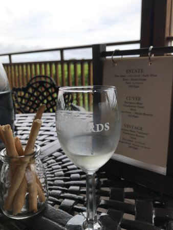 Mattituck, Nowy Jork: Sauvignon Blanc on the terrace