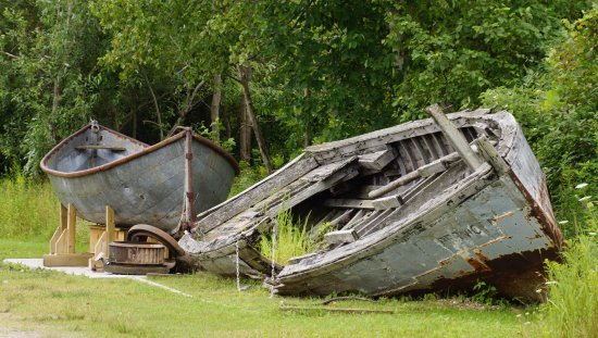Harrisville, MI: Wooden boats