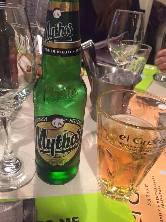 Restaurant El Greco: Piwo Mythos