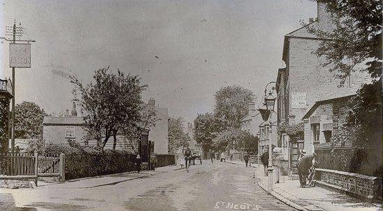 St. Neots, UK: St Neots Museum on the left in 1910