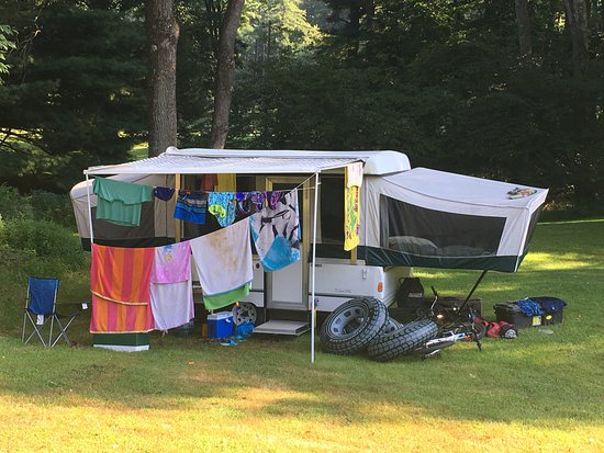 Sigel, PA: Many of the campsites were close together, but site #10 was a corner spot with a lot of space
