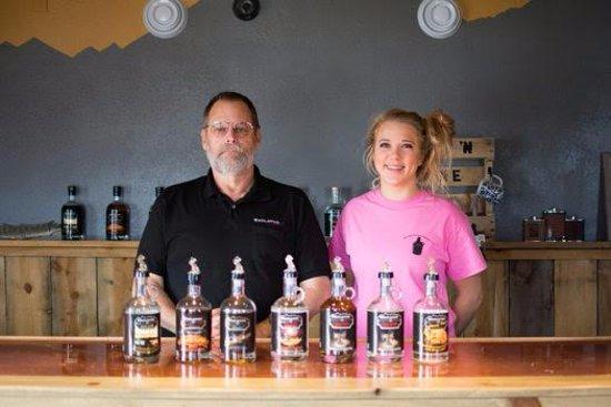 Kadoka, SD: Co-owner/Distiller- Mark Eschenbacher and General Manager/Distiller-in-training- Shaley Herber