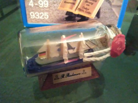 Mini R Rickmers museum ship in a bottle Picture of Port of