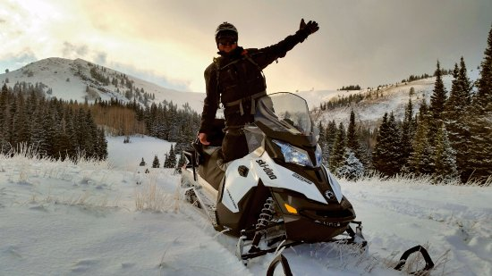 Red Pine Adventures: Sunset on a ski-doo!