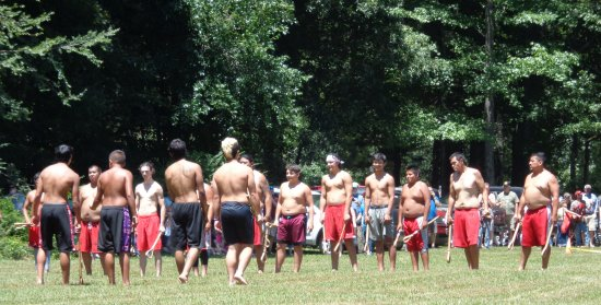 Red Clay State Historic Park: Start of the Stickball game.