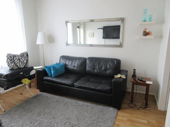 Castle House Luxury Apartments: lviing room, satelite TV