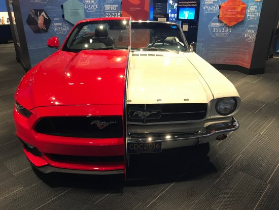 National Inventors Hall of Fame : Split Mustang Showing the Differences