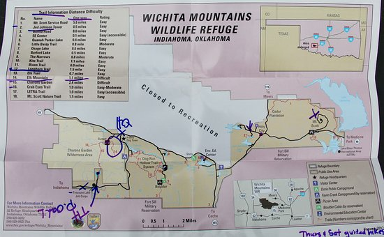map of trails Picture of Wichita Mountains National Wildlife