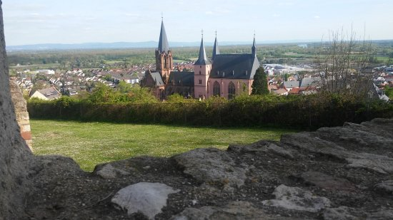 Oppenheim, Germany: View from front rampart.