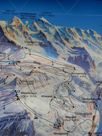 Picture of map from Wengen train station Beausite Park Hotel