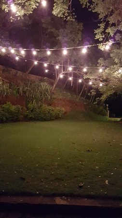 Las Flores Resort: Garden area at night