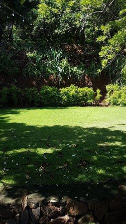 Las Flores Resort: Garden area in the day