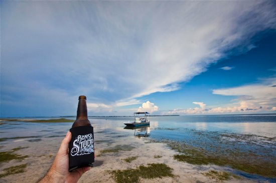 Bonish Studio Coozie's being put to good use out on the Gulf of Mexico in Cedar Key Florida