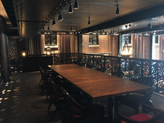 The overlook semi private room above the dining room for Best private dining rooms in baltimore