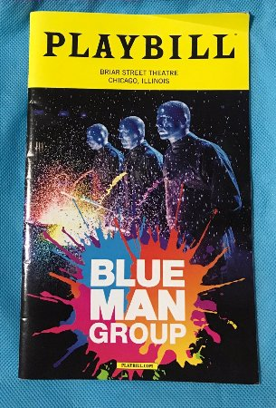 Blue Man Group: Folleto informativo