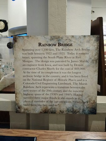 Fort Morgan, CO: Rainbow Bridge Display Area