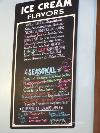 Hoodsport, واشنطن: ice cream flavours