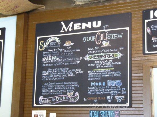 Hoodsport, Ουάσιγκτον: menu of food items