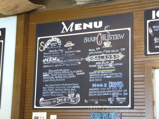 Hoodsport, واشنطن: menu of food items