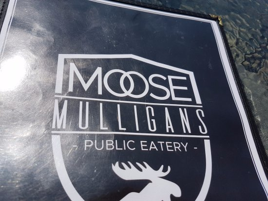 Moose Mulligans: Menu