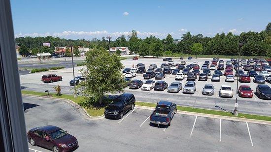 Hiram, GA: View from window, 3rd floor, front of hotel