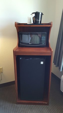 Hiram, GA: microwave and small fridge in room