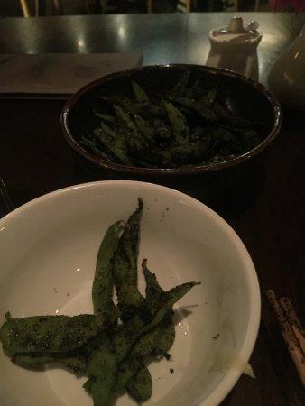 Sake Restaurant & Bar : Messy edamame covered in nori powder - why?