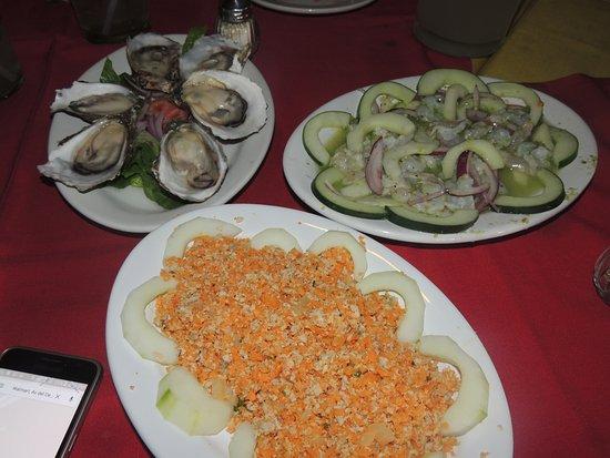 La Costa Marinera : ceviche de sierra muy malo ostiones y aguachile regular