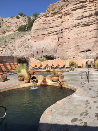 Ojo Caliente, NM: Two of the soaking pools