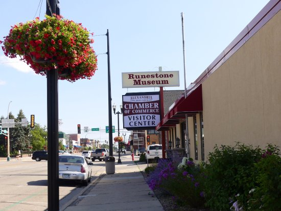 Alexandria, MN: The street front of the museum
