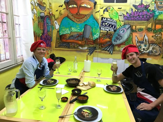 Chilean Cuisine Cooking Classes: Once we were done with the prep and cooking, it was DINNER TIME!