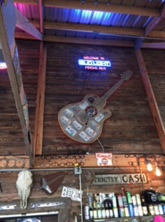Langley, WA: Guitar above the indoor bar