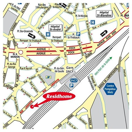 Residhome Metz Lorraine: Location map