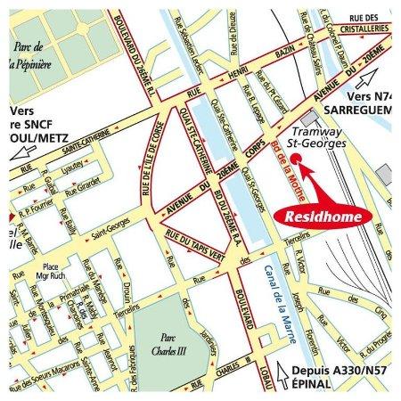 Location map Picture of Residhome Privilege NancyLorraine Nancy