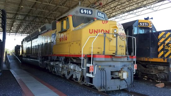 Utah State Railroad Museum: This locomotive features two separate diesel engines on a single frame